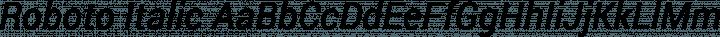 Roboto Italic free font