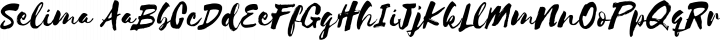Selima Regular free font