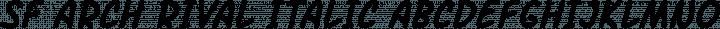 SF Arch Rival Italic free font