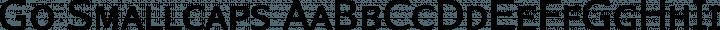 Go Smallcaps Regular free font