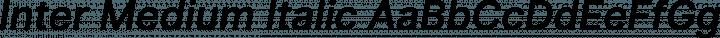 Inter Medium Italic free font