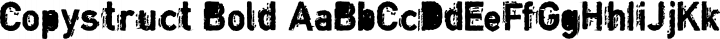 Copystruct Bold free font