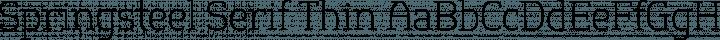 Springsteel Serif Thin free font