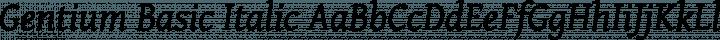 Gentium Basic Italic free font