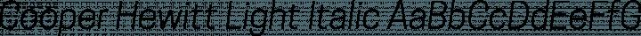 Cooper Hewitt Light Italic free font