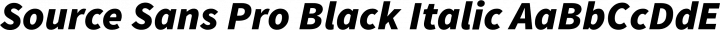 Source Sans Pro Black Italic free font