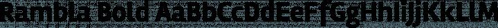 Rambla Bold free font