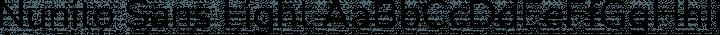 Nunito Sans Light free font