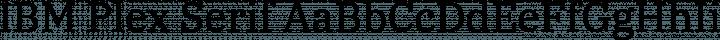 IBM Plex Serif Regular free font