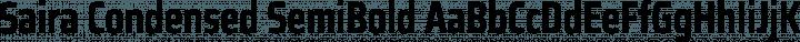 Saira Condensed SemiBold free font