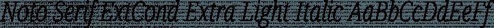Noto Serif ExtCond Extra Light Italic free font