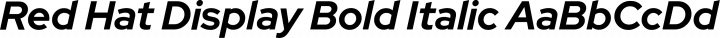 Red Hat Display Bold Italic free font