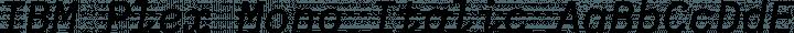 IBM Plex Mono Italic free font