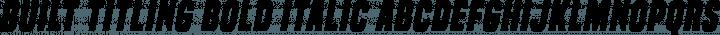 Built Titling Bold Italic free font