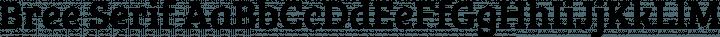 Bree Serif Regular free font
