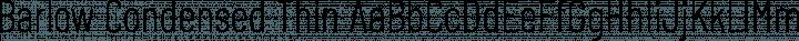 Barlow Condensed Thin free font