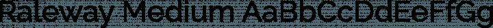 Raleway Medium free font