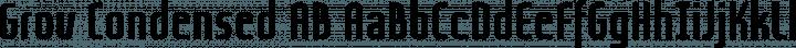 Grov Condensed AB Regular free font