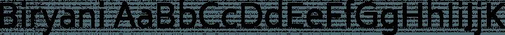 Biryani font family by TypeOff