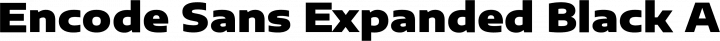 Encode Sans Expanded Black free font