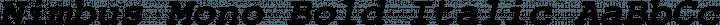 Nimbus Mono Bold Italic free font