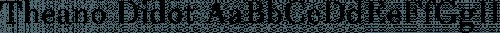 Theano Didot font family by Alexey Kryukov