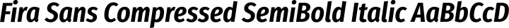 Fira Sans Compressed SemiBold Italic free font