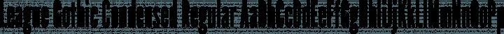League Gothic Condensed Regular free font