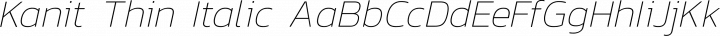 Kanit Thin Italic free font