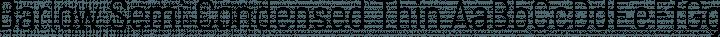 Barlow Semi Condensed Thin free font