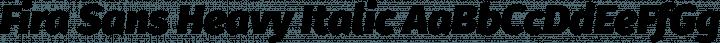 Fira Sans Heavy Italic free font