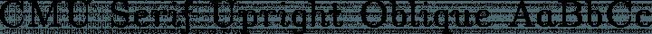 CMU Serif Upright Oblique free font