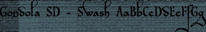 Gondola SD - Swash Regular free font