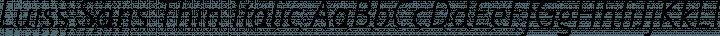 Luiss Sans Thin Italic free font