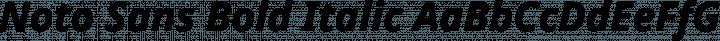 Noto Sans Bold Italic free font