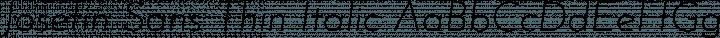 Josefin Sans Thin Italic free font