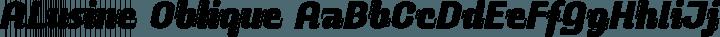 ALusine Oblique free font