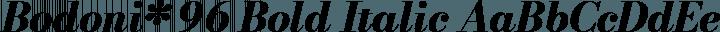 Bodoni* 96 Bold Italic free font