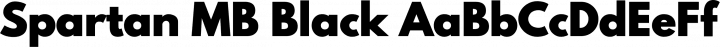 Spartan MB Black free font
