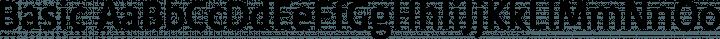 Basic Regular free font