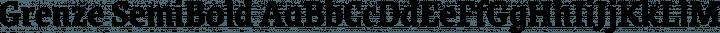 Grenze SemiBold free font