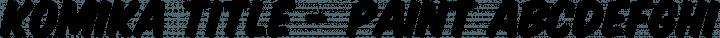 Komika Title - Paint Regular free font