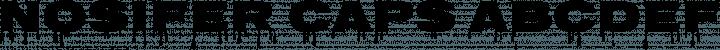 Nosifer Caps font family by Typomondo