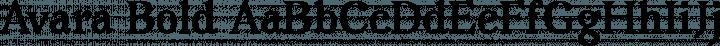 Avara Bold free font