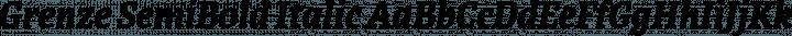 Grenze SemiBold Italic free font