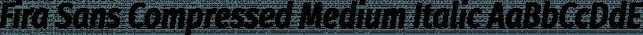 Fira Sans Compressed Medium Italic free font