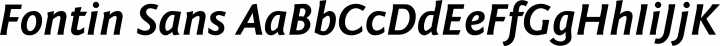 Fontin Sans font family by Exljbris