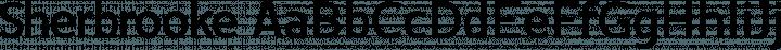 Sherbrooke font family by Eyad Al-Samman