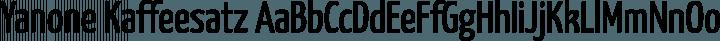 Yanone Kaffeesatz Regular free font