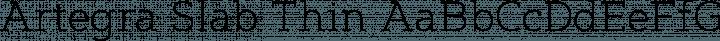 Artegra Slab Thin free font